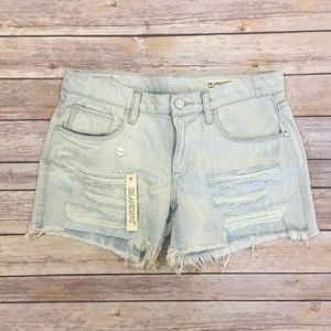 BLANK NYC 27 Cut Off Jean Shorts Frayed Distressed